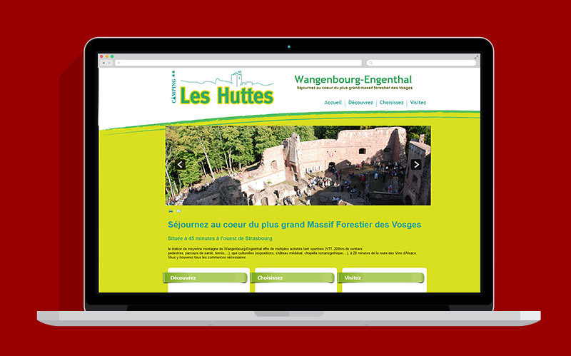 Camping les Huttes Wangenbourg - Site web