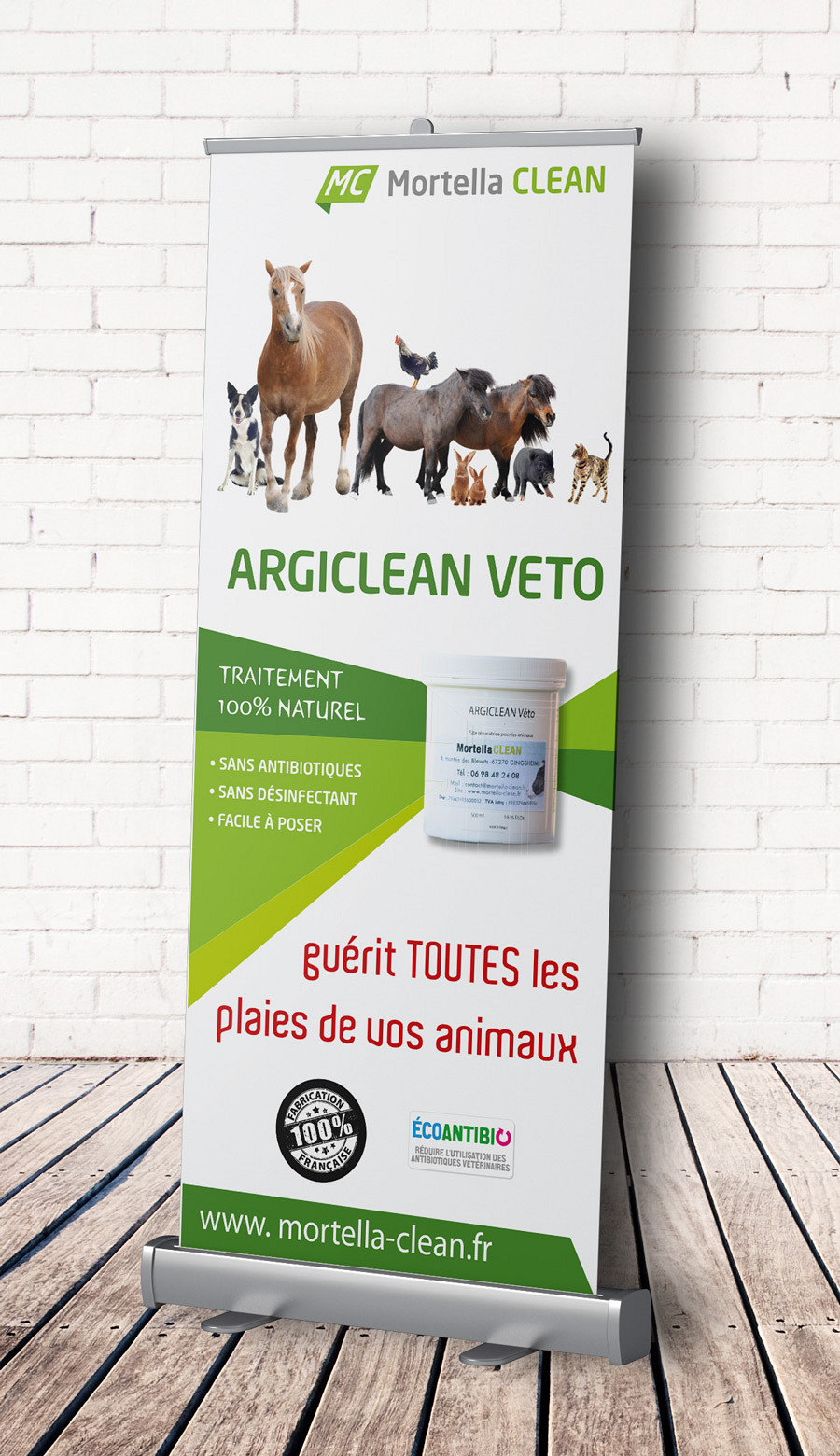 Mortella Clean - Roll-up tous animaux